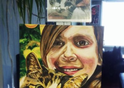 2012-12 - Commissioned Pet Portrait Painting - Crystal the Cat with Pauline-printout