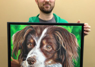 2013-04 - Pet Portrait Painting - Cedi - To show Scale
