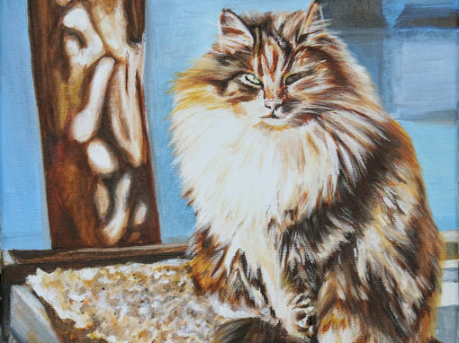 2015-01 – Commissioned Pet Portrait Painting by Cameron Dixon – Chiquitou