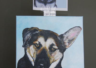 2009-12 - Commissioned Painting - Pet Portrait Painting - Beans Complete with Print
