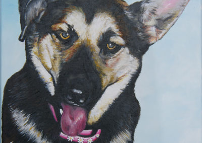 2009-12 - Commissioned Painting - Pet Portrait Painting - Beans Complete