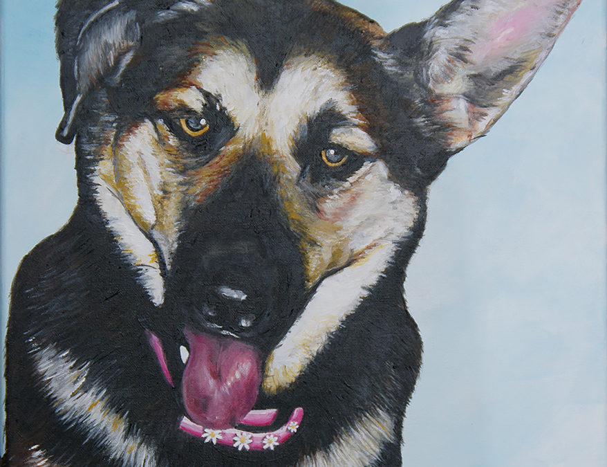 2009-12 – Commissioned Painting – Pet Portrait Painting – Beans