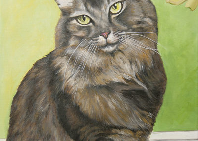2010-12 - Commissioned Painting - Pet Portrait Painting - Riley Complete