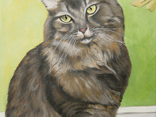 2010-12 – Commissioned Painting – Pet Portrait Painting by Cameron Dixon – Riley