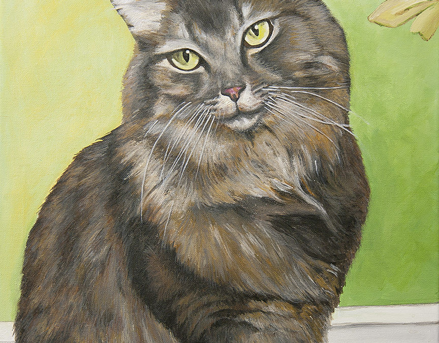 2010-12 – Commissioned Painting by Cameron Dixon- Pet Portrait Painting – Riley