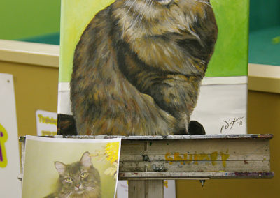 2010-12 - Commissioned Painting - Pet Portrait Painting - Riley Complete with Working Printout