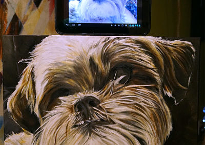 2015-09 – Commissioned Painting – Pet Portrait Painting by Cameron Dixon – Dakota - completed