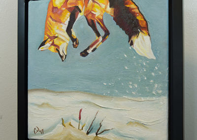 2017-01 - Painting by Cameron Dixon - Fox Pounce 1 -complete-left-web