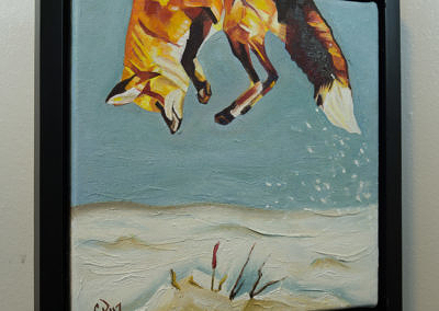 2017-01 - Painting by Cameron Dixon - Fox Pounce 1 -complete-right-web