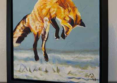 2017-01 - Painting by Cameron Dixon - Fox Pounce - 2 - complete-left-web