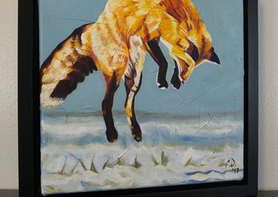 2017-01 - Painting by Cameron Dixon - Fox Pounce - 2 - complete-right-web