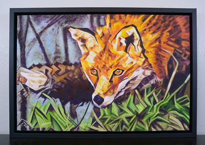 Painting by Cameron Dixon - The Surreptitious Stalker - complete full and framed