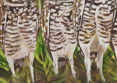 2016-05 - Art Bark - Burrowing Owls - Original Painting by Cameron Dixon - detail-d