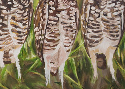 2016-05 - Art Bark - Burrowing Owls - Original Painting by Cameron Dixon - detail-a