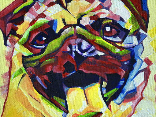 2017-04 – Original Painting by Cameron Dixon – Pop Art PUG
