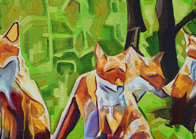 DSC00048 - 2017-03 - Painting - Fox Cub Four 1080px-detail-Cameron Dixon