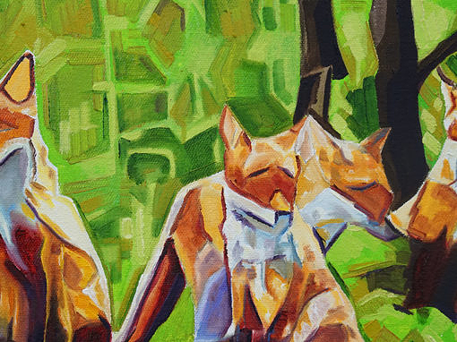 2017-03 – Original Painting by Cameron Dixon – Fox Cub Four