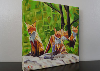 DSC00055 - 2017-03 - Painting - Fox Cub Four 1080px-right-cameron-dixon