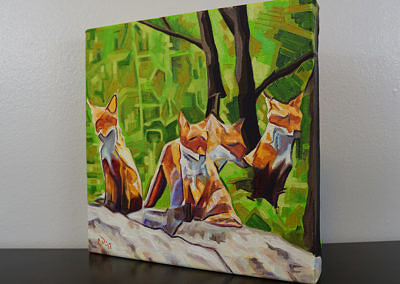 DSC00056 - 2017-03 - Painting - Fox Cub Four 1080px-left-cameron-dixon