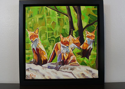 DSC00057 - 2017-03 - Painting - Fox Cub Four 1080px-frame-front-cameron-dixon