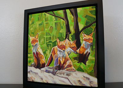 DSC00059 - 2017-03 - Painting - Fox Cub Four 1080px--frame-left-cameron-dixon