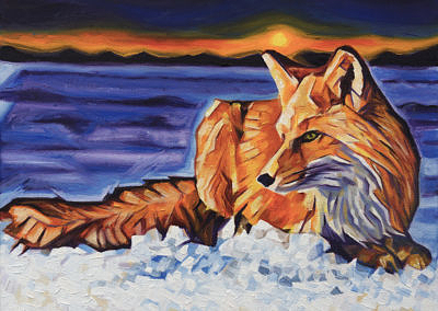 DSC00060 - 2017-03 - Painting - Twilight Fox 1080px-front-crop-cameron-dixon