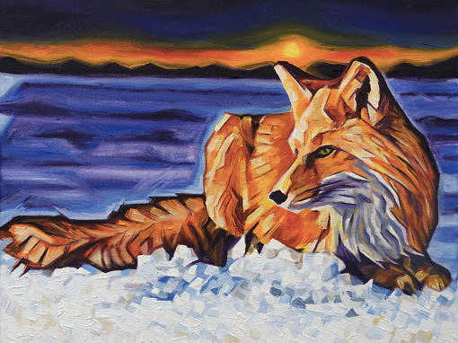 2017-03 – Original Painting by Cameron Dixon – Twilight Fox