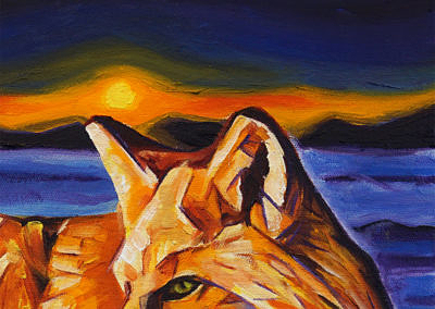 DSC00060 - 2017-03 - Painting - Twilight Fox 1080px-front-detail-c-cameron-dixon