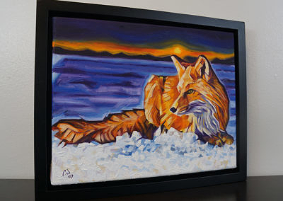 DSC00065 - 2017-03 - Painting - Twilight Fox 1080px-frame-right-cameron-dixon
