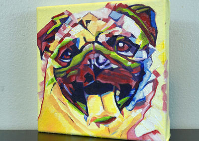 2017-04 - Painting by Cameron Dixon - Pug-1-left-1080px