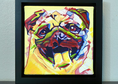 2017-04 - Painting by Cameron Dixon - Pug-1-frame-front-1080px