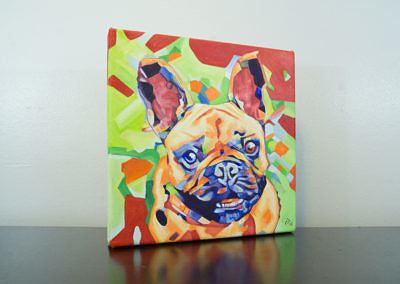 Popart-frenchie by Cameron Dixon -right