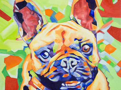 2017-05 – Original Painting by Cameron Dixon – Pop Art FRENCHIE 1