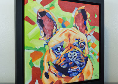 Popart-frenchie by Cameron Dixon -frame-front-right-1080px