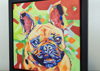 Popart-frenchie by Cameron Dixon-frame-front-left-1080px