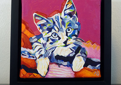 2017-05 - Pop Art Kitten1 by Cameron Dixon - framed-front-1080px