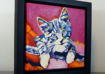 2017-05 - Pop Art Kitten1 by Cameron Dixon - framed-right-1080px