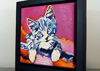 2017-05 - Pop Art Kitten1 by Cameron Dixon - framed-left-1080px