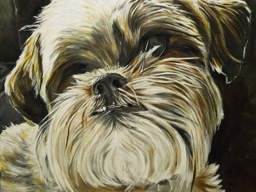 2015-09 – Commissioned Painting – Pet Portrait Painting by Cameron Dixon – Dakota