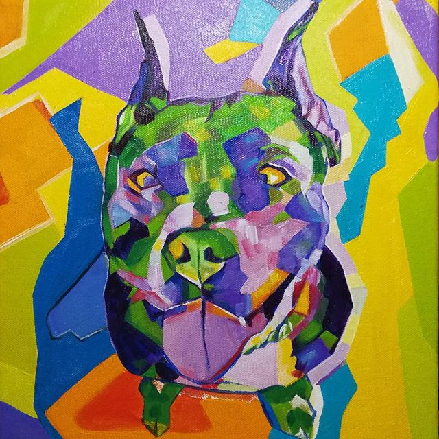 Pop Art Pitbull12in x 12in x 1.375inOil on canvas...Will be available for purchase soonTaking commissions:www.camerondixon.comPricing:www.camerondixon.com/pricing#nyc #newyork #newyorkcity #manhatten elbarrio #eastharlem #ilovenyc #contemporaryart #modernart #photooftheday #igersofnyc #newyorkart #newyorkartist #nyart #popart #petportrait #petpainting #artistforhire #commissionedartist #instapitbull #pitbullsofinstagram #pitbullsofig #pibble #instapibble #abstractart #pittie #pitbullpainting #80s