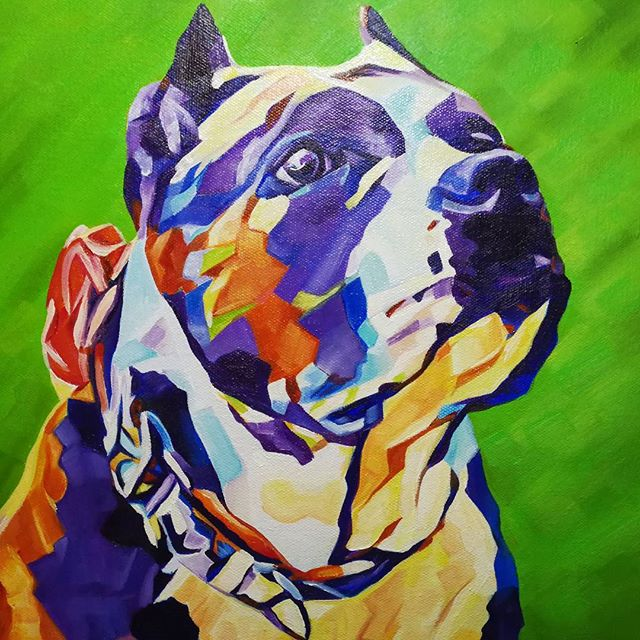 Pop Art Pet PortraitAthena 12in x 12in x 1.375inI love how this one turned out, Athena is a Goddess!Want a commission? Visit my website for pricing and go to my Etsy Shop to purchase.www.camerondixon.com#nyc #newyork #newyorkcity #manhatten #eastharlem #ilovenyc #contemporaryart #modernart #photooftheday #igersofnyc #newyorkart #newyorkartist #nyart #popart #petportrait #petpainting #dogpainting #abstractart #commissionedartist #instadog #dogsofinstagram #dog #americanbully #bully #instaamericanbully #pitbullsofig #pibble #pibblepainting