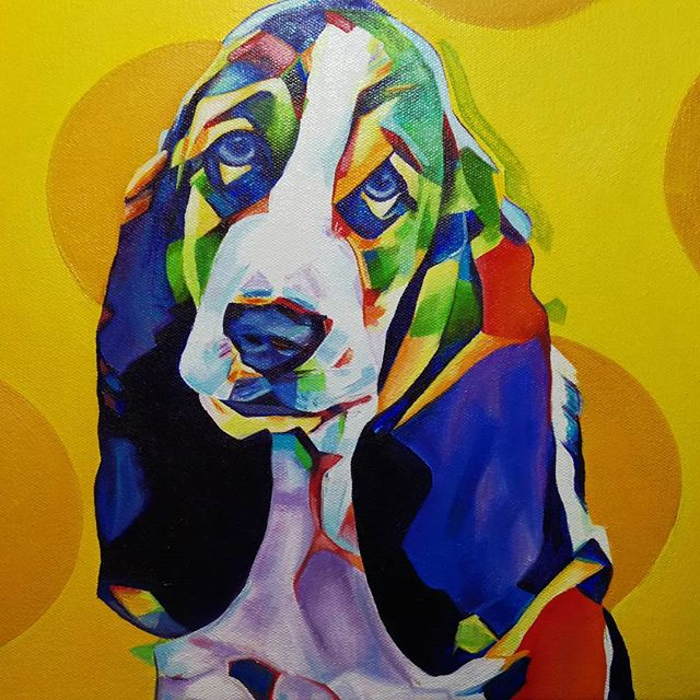 Pop Art Pet PortraitBassett Hound Puppy12in x 12in x 1.375inMostly done, maybe just another quick coat of highlights and this will be up for sale as well as prints and products will be available soon.#nyc #newyork #newyorkcity #manhatten #eastharlem #ilovenyc #contemporaryart #modernart #photooftheday #igersofnyc #newyorkart #newyorkartist #nyart #popart #petportrait #petpainting #dogpainting #abstractart #commissionedartist #instadog #dogsofinstagram #dog #puppysofig #puppypainting #bully #instabasset #bassethoundsofig #instabassethounds #hound