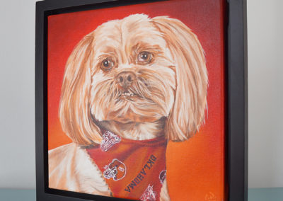 Commissioned painting by Cameron Dixon - DSC00298-Bell-frame-right-1080px