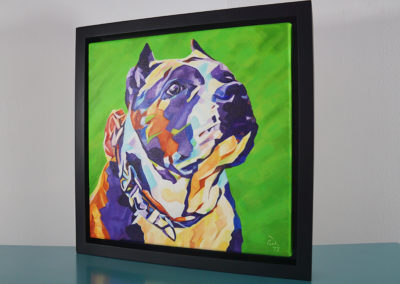 Pop Art Pet Painting - Athena - Cameron Dixon - DSC00306-frame-left-1080px