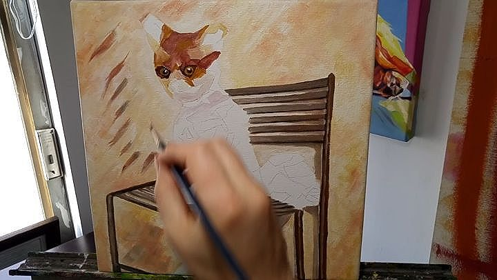 Bad Taxidermy Fox Time Lapse Video - 12in x 12in - Acrylic/oil on canvas.  This work will be available very soon on my website. Own your very own Bad Taxidermy Fox painting soon!