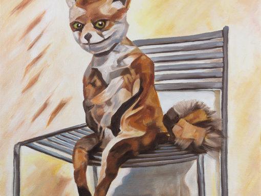 2017-12 – Original Painting by Cameron Dixon – Bad Taxidermy Fox
