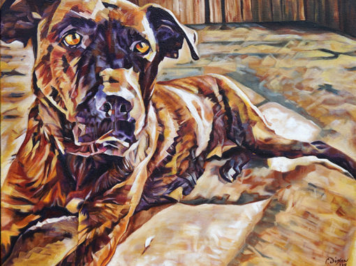 2018-03 – Commissioned Painting by Cameron Dixon – Pet Portrait – Ursa