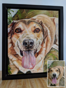 2018-03-Pet-Portrait-Loki-11x14-finished painting with inset