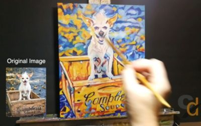 Timelapse Pop Art Pet Portrait Lucy 11in x 14in x 1